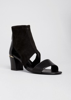 Delman Open Toe Sandals - Kara Low Heel