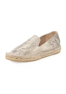 Delman Percy Metallic Flat Espadrille, Putty