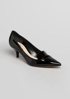 Delman Pointed Toe Pumps - Baily Mid Heel