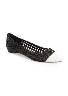 Delman 'Shana' Pointy Toe Skimmer Flat (Women)