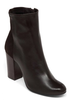 Delman Stretch Leather Nyla Ankle Booties
