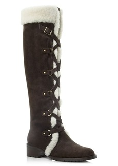 Delman Strut Shearling High Shaft Boots