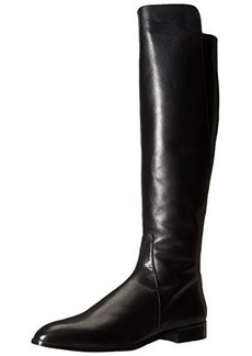 Delman Women's D-Buena-B Riding Boot, Black Burnished Leather, 8.5 M US