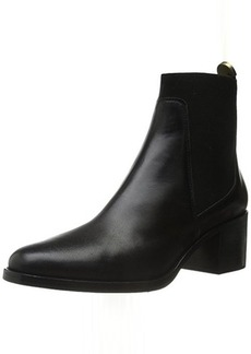 Delman Women's D-Corie-B Boot, Black Burnished Calfskin, 6 M US