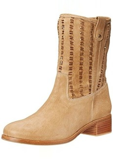 Delman Women's D-Merci-G Boot, Hazelnut Washed Goatskin/Perforated Goatskin, 8 M US