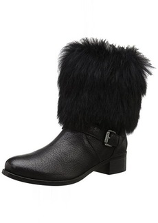 Delman Women's D-Minka-GS Boot, Black Shrunken Goat/Toscana Shearling, 9 M US