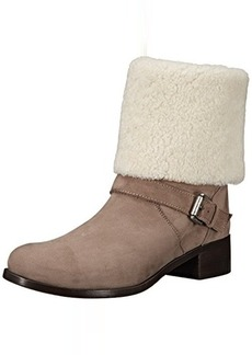 Delman Women's D-Minka-NS Boot, Light Mink Tumbled Nubuck/Off-White Merino Shearling, 6.5 M US