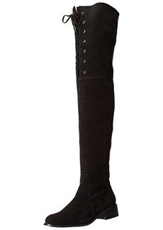 Delman Women's D-Stacy-WS Slouch Boot, Black Country Suede, 8 M US