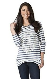 Democracy French Terry Stripe Sweatshirt