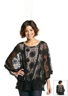 Democracy Lace Flutter Sleeve Top