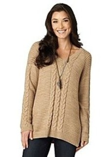 Democracy Vneck Cable Sweater