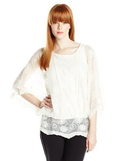 Democracy Women's All Over Lace Two-Fer with Knit Tank