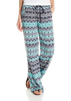 Democracy Women's Drawstring Soft Printed Pant