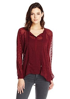 Democracy Women's Embroidered Peasasnt Body Blouse