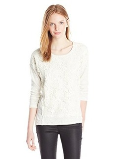 Democracy Women's Lace Front French Terry Sweatshirt