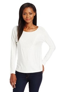 Democracy Women's Long Sleeve Knit Top with Heat Seal Studs