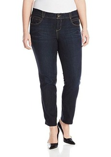Democracy Women's Plus-Size AB Solution and Booty Lift Technology Jegging, Indigo