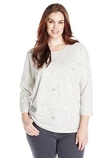 Democracy Women's Plus-Size Embellished French Terry Sweatshirt