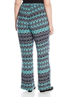 Democracy Women's Plus-Size Printed Woven Drawstring Soft Pant