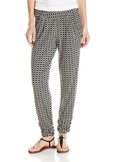 Democracy Women's Printed Knit Pant with Rouched Hem
