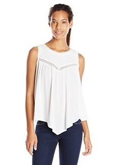 Democracy Women's Woven Top with Embroidered Yoke