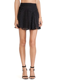 DEREK LAM 10 CROSBY Asymmetrical Hem Mini Skirt