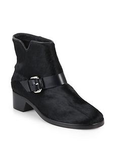 Derek Lam 10 Crosby Charlotte Calf Hair Buckled Ankle Boots