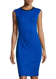 Derek Lam 10 Crosby Colorblock Pintucked Sheath Dress