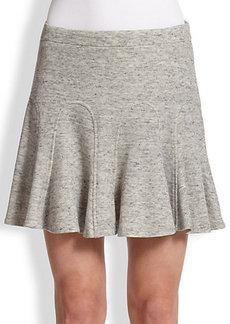 Derek Lam 10 Crosby Cotton Jersey Godet-Pleat Skirt