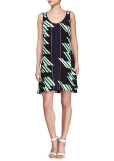 Derek Lam 10 Crosby Crisscross Strappy Printed Dress