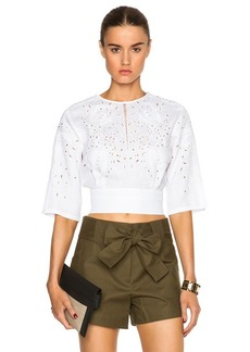 """DEREK LAM 10 CROSBY <div class=""""product_name"""">Embroidered Linen Bracelet Sleeve Top</div>"""
