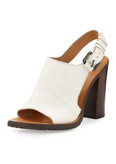 Derek Lam 10 Crosby Jemina Leather Sport Sandal, Soft White