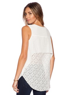 DEREK LAM 10 CROSBY Lace Back Tank