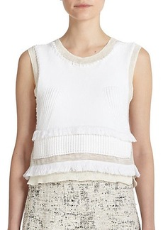 Derek Lam 10 Crosby Layered Cotton & Silk Knit Top