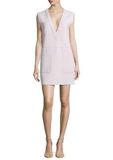 Derek Lam 10 Crosby Raised-Seam Knit Sleeveless Dress