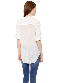 Derek Lam 10 Crosby Shirt with Pleated Back