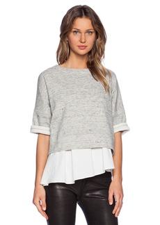 DEREK LAM 10 CROSBY Short Sleeve Sweatshirt