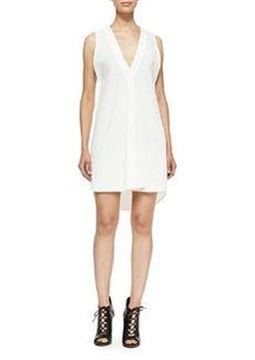 Derek Lam 10 Crosby Sleeveless V-Neck Dress W/ Underpinning