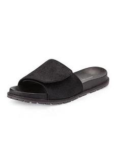 Derek Lam 10 Crosby Spencer Calf Hair Slip-On Sandal, Black