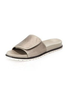 Derek Lam 10 Crosby Spencer Metallic Slip-On Sandal, Pewter