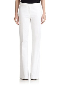 Derek Lam 10 Crosby Stretch-Cotton Flared Trousers