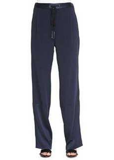 Derek Lam 10 Crosby Track Pants with Drawstring, Midnight