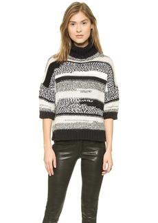 Derek Lam 10 Crosby Turtleneck Crop Sweater