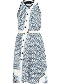 Derek Lam Asymmetric printed silk dress
