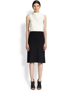 Derek Lam Bi-Color Drape Dress