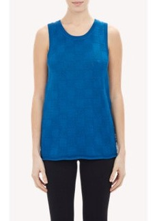 Derek Lam Checkerboard-Stitch Sleeveless Sweater