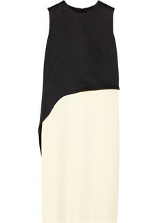 Derek Lam Color-block crepe and satin dress