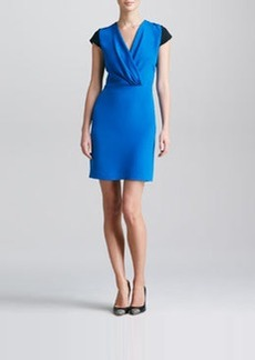 Derek Lam Colorblock Surplice Dress