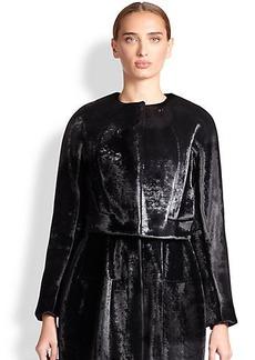 Derek Lam Cropped Velvet Jacket