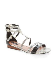 Derek Lam 'Edria' T-Strap Snakeskin Sandal (Women)